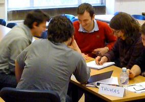 Edinburgh University School of Engineering Students working on an exercise in the Sales Skills Workshop